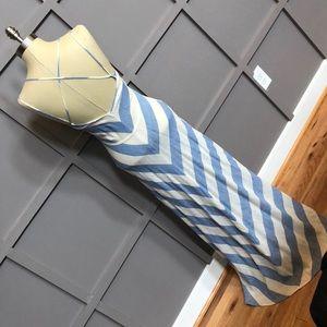 LOFT Beach linen maxi dress with tie waist sz 00